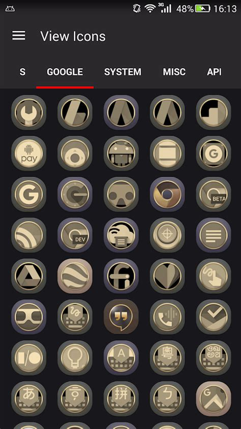 gold winterboard themes gold icons pro cool icon pack android apps on google play