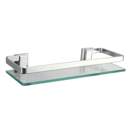 glass bathroom wall shelf kes a4125 aluminum bathroom glass rectangular shelf wall