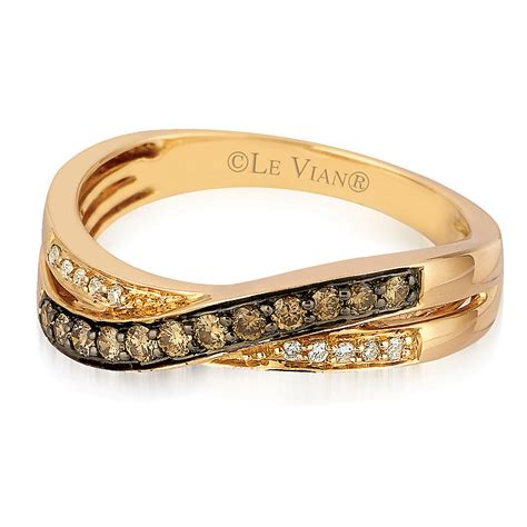 le vian 14ct strawberry gold chocolate ring