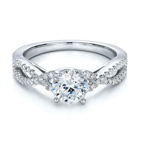 contemporary criss cross engagement ring 100403