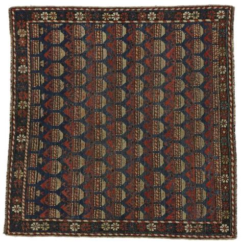 Modern Square Rug Antique Russian Dagestan Square Rug With Modern Style For Sale At 1stdibs