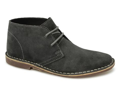 gobi mens suede leather desert boots grey buy