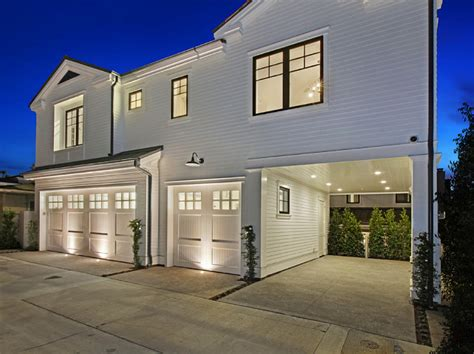 Garage Development by Ultimate California House With Coastal Interiors