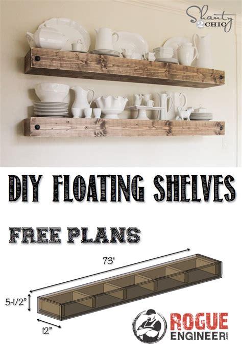 woodworking plans floating shelf