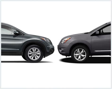 Nissan Rogue Vs Honda Crv by Nissan Rogue Vs Honda Cr V Compare Cars