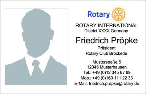 rotary club business card template individual business card