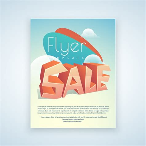 flyer template editor geometric sale flyer template vector premium download