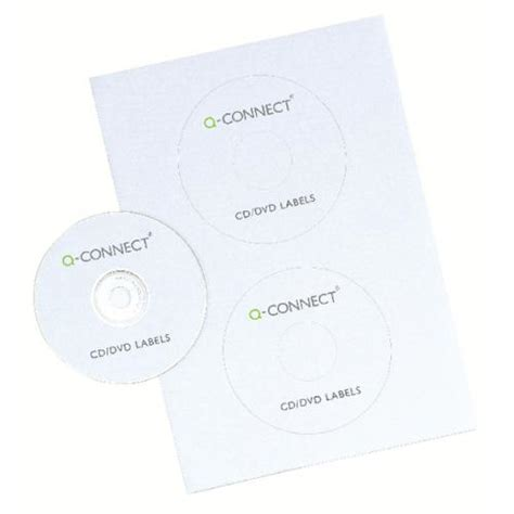 label template q connect q connect cd dvd label 2 per a4 sheet pack of 100 kf05599