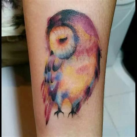 tattoo owl pinterest owl watercolor tattoo love everything about it things