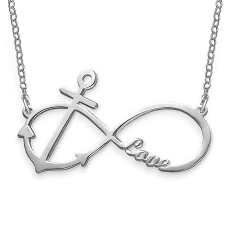 infinity and anchor necklace personalized infinity anchor necklace mynamenecklace