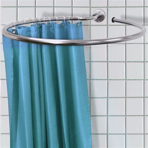 circular shower curtain steel curtain rail curtains center