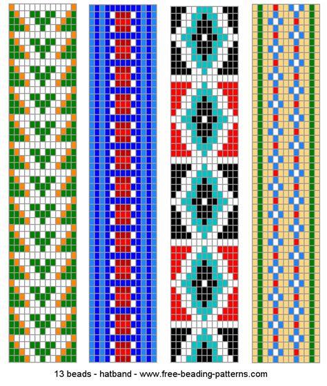Perlenweben Vorlagen Muster hatband just beading and beading patterns