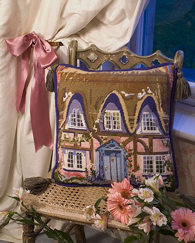 The Tapestry Cottage by The Purple Tree Thatched Cottage Tapestry Kit