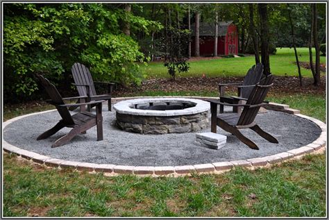 Backyard Fire Pit Ideas: the Gravel around Pit   Duckness