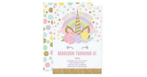 Engagement Decoration Ideas At Home by Rainbow Unicorn Birthday Invitation Pink Gold Zazzle Com
