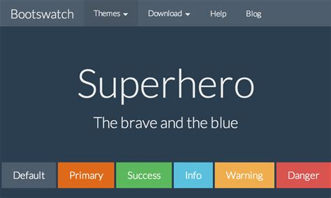 bootstrap themes superhero darkly free bootstrap theme