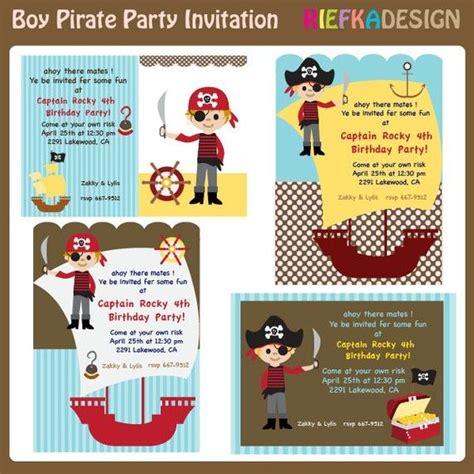 boy invitation templates boy pirate invites blank invitation template for