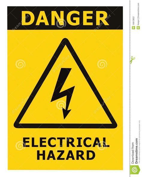 il triangolo no testo il segno di rischio elettrico pericolo con testo ha