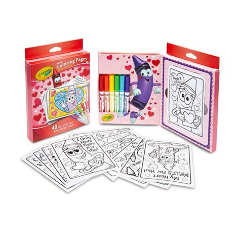 mini coloring pages crayola amazon com crayola valentine s day mini coloring pages