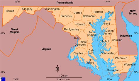 Us Search Maryland Clickable Map Of Maryland United States