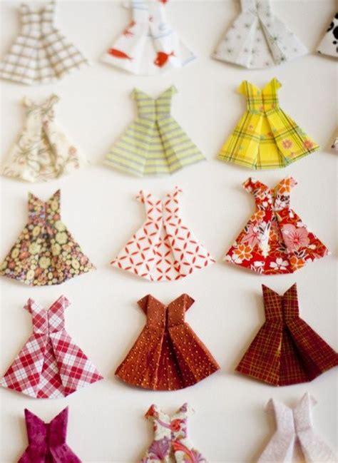 Paper Dress Craft - origami paper dresses diy crafts