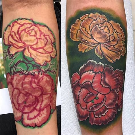 flower tattoo rework altered images tattoos rework flowers cover up