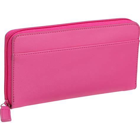 Clutch Wallet by Royce Leather Rfid Blocking Fan Wallet Berry