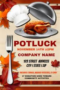 thanksgiving potluck template postermywall