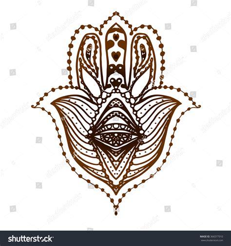 amulet tattoo hamsa henna fatima stock vector 366577910