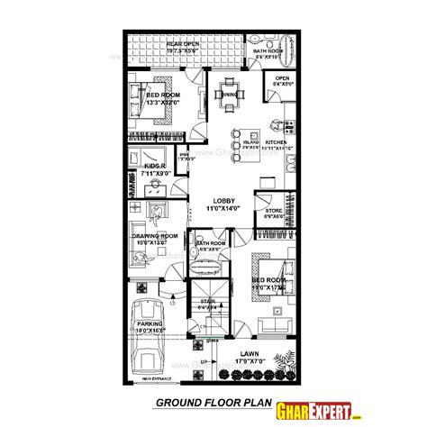 Dimensions Of 200 Square Feet by House Plan For 30 Feet By 60 Feet Plot Plot Size 200