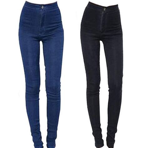 high waist jeans pants 2015 new fashion jeans women pencil pants high waist jeans