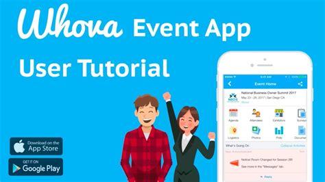 tutorial video app whova event app tutorial convenient mobile brochure and