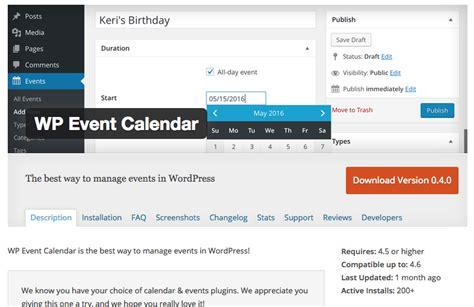 wp event calendar wordpress plugin interview
