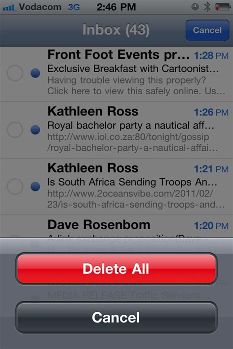 how to uninstall ios 6 update how to delete all your mail at once on your iphone 4