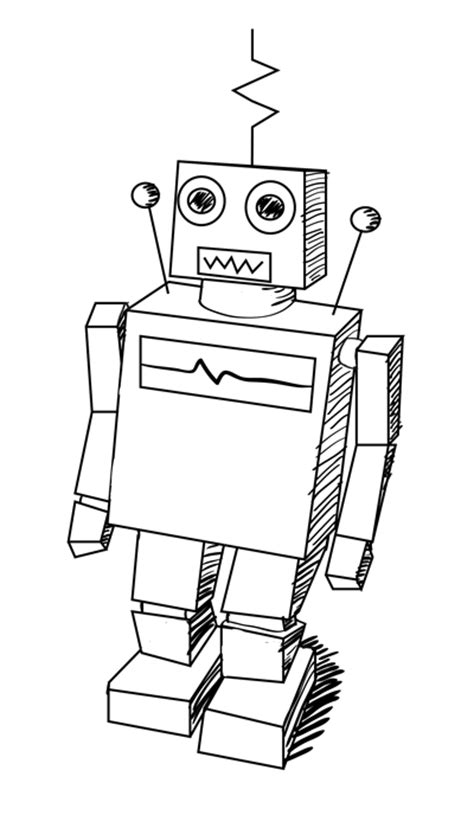 How To Make A Paper Robot Step By Step - learn how to draw a classic robot in this easy step by