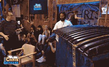 jason mantzoukas dumpster funny or die trash gif by gethardshow find share on giphy