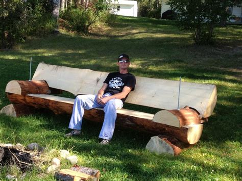 benches made from logs log bench 2 by jerm891 on deviantart