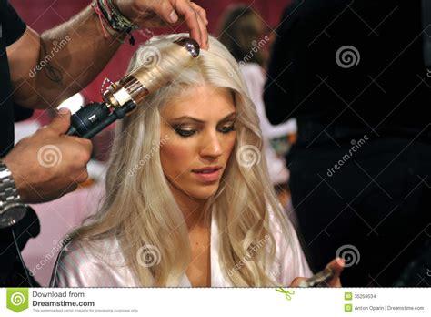 hair shows in new york 2013 new york ny november 13 model devon windsor prepares