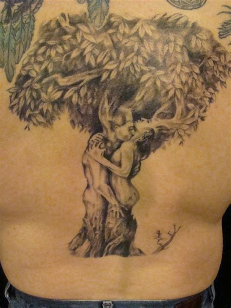 couples tree tattoos leg skeleton artwork tree design idea for and