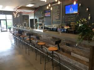 concrete bar top installed at the compass brewery in