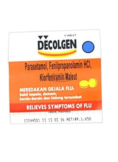 Obat Batuk Laserin decolgen obat flu 4 s tablet stp klikindomaret