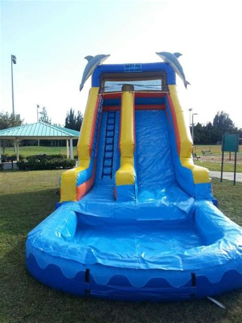 bounce house with waterslide bounce house rentals water slide rentals jolly jumpers party invitations ideas