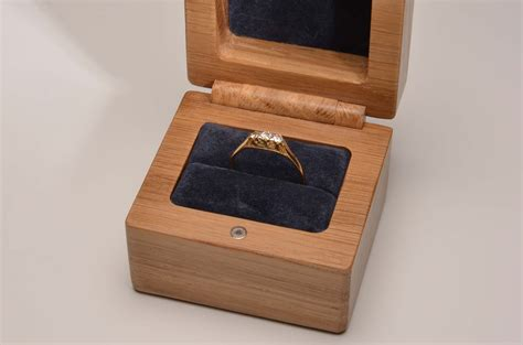 Handmade Engagement Ring Box - handmade wedding or engagement ring box