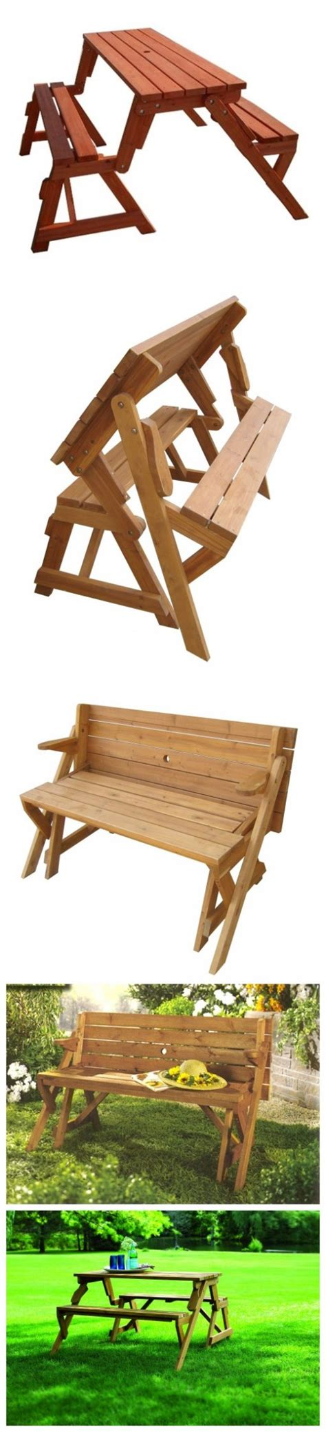 folding bench picnic table folding picnic table bench diy quick woodworking projects
