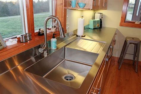 Stainless Steel Sink And Countertop by Best 25 Stainless Steel Countertops Ideas On