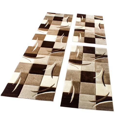 bettumrandung teppich l 228 ufer set braun design teppiche