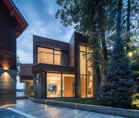 modern lake house extensive use of glass defining modern lake house in