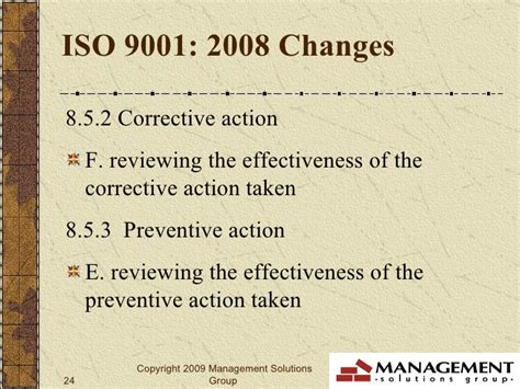 iso 9001 section 8 iso 9001 2008 revisions changes