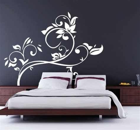 florales wandtattoo kopfende bett tenstickers - Kopfende Bett
