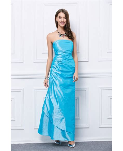 Special Discount Last Stock Only Baju Pesta Wedding chic strapless pleated satin prom dress ck79 58 6 gemgrace